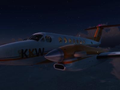 Convoyage KingAir Leg8 BIRK-EGPO FL250