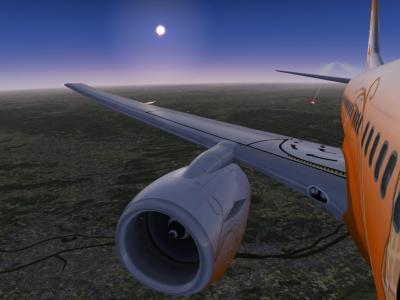 37000 pieds avec un A320 à 35000 pieds (Excusez moi pour le texte rouge)
