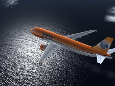A320 with the sea