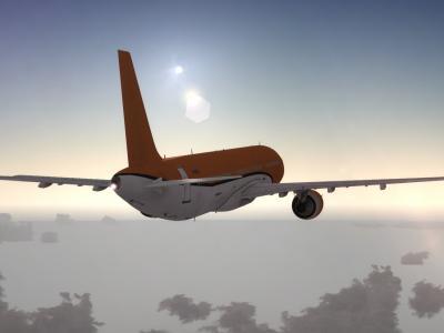 A321 rattrapant le soleil