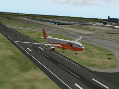 Airbus A330-200 F-KW73 au décollage 25 droite à EBBR