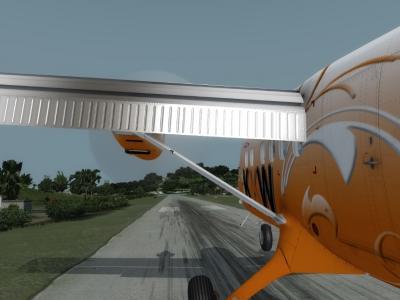 Atterrissage TFFJ DHC6 rwy10