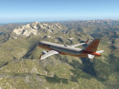 Au dessus du Mont Blanc
