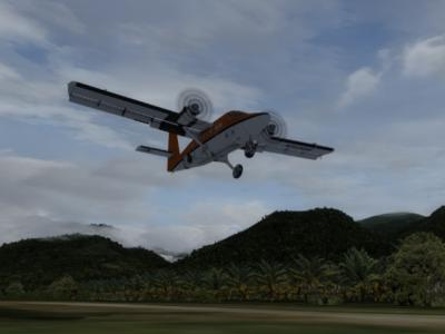Bush landing in Papua New Guinea
