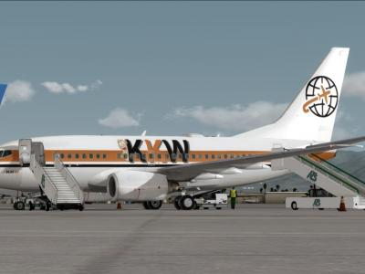 CLassic shot of the 737-600 at KPSP