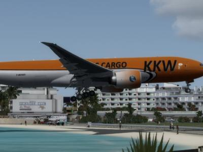 Classic approach over Maho beach ....