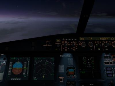 Cockpit preparation, expect LOC 18 in sunset