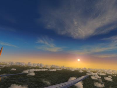 Coucher de soleil sur Clermont
