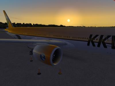 Départ NTAA coucher de soleil