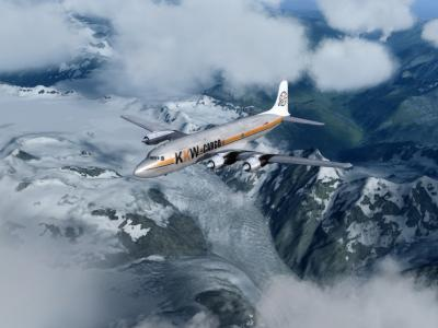 DC-6 F Air to Air in Alaska
