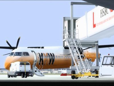 Dash8-Q400 at LFBO Gate E60