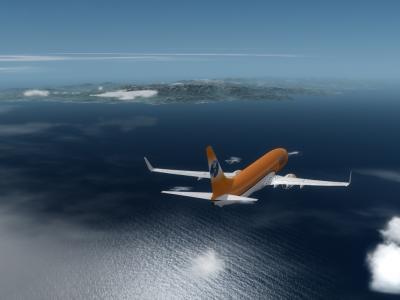 En approche de la corse , 737-800