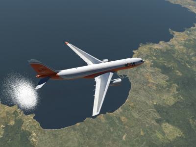 En croisière vers Bordeaux après envol de Nice avec l'A330-200