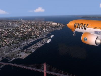 Final approach Lisboa rwy 03
