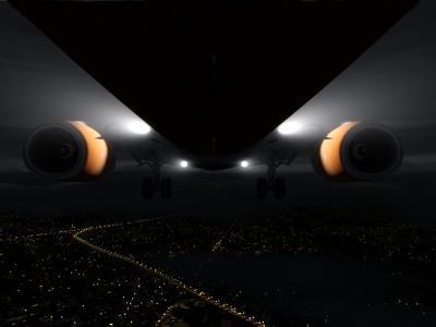 Final approach rwy 21 LFRS