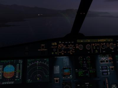 Final runway 18 Check-list before landing completed !