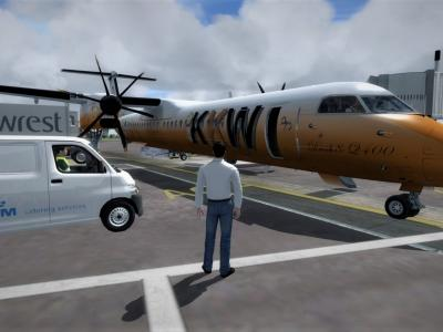 Flight Preparation - LFBZ - Majestic Q400