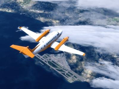KingAir B350 over LFMN Nice au FL260