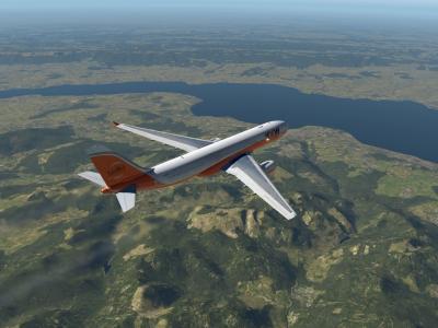 Lac Léman au niveau 360