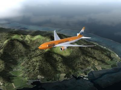 Landing at NTAA to begin the IVAO Cargo World Tour
