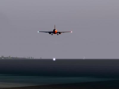 Landing of KKW 207 on Ajaccio !