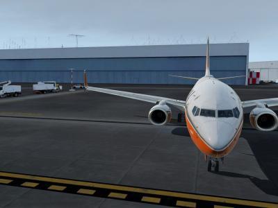 Le 737 fraîchement sortit du hangar de Boeing !