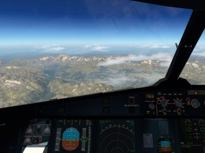 Mont Blanc en vue (LIRF-LFPO)