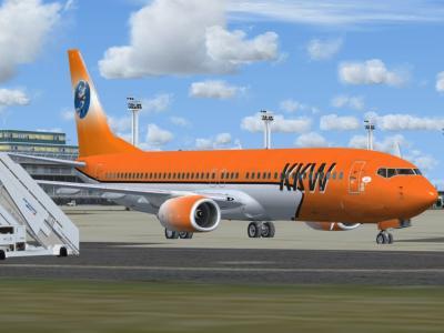 Notre 737 en cours de peinture mais utilisable