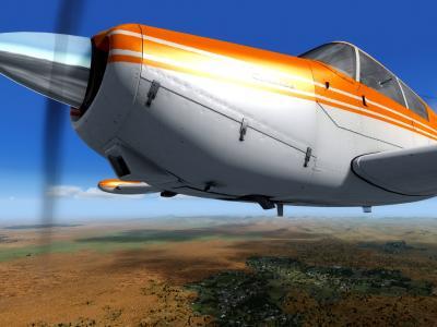 PA24 Comanche. World Tour VFR  Australia. Texture par Rémi.