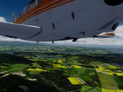 PA24 F-KKW79 Swiss VFR Tour