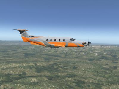 Photo du PILATUS PC12 aux couleurs de la KAWET (xplane11.50)