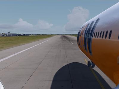 Ready for departure runway 08- KKW-HLU