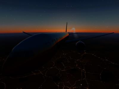Sunset above England !