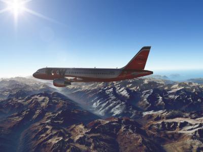Survol des alpes suisses en A320