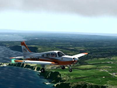Texture pour PA 28 adaptée et terminée pour le PA28 Justflght pour X Plane.