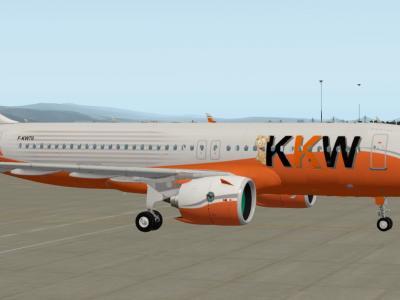 Un  A320 Neo au look B777 : l'équiper avec les monstrueux moteurs Pratt & Whitney PurePower 1000G ;-)