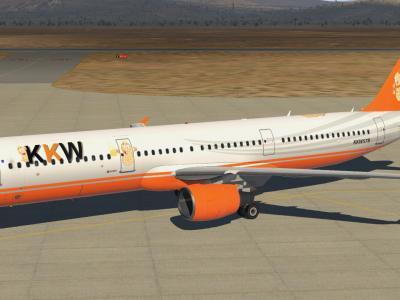 Voici le TOLISS A321 aux couleurs de la KAWET
