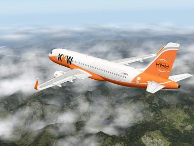 Vol LGAV-ELLX avec le F-KW70 au dessus des montagnes grecques