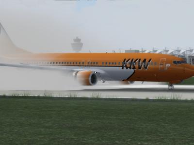 Wet landing at EDDM