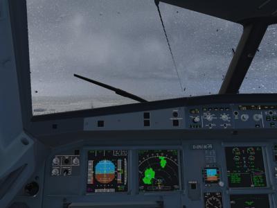 approche en A319 sur CYYT au canada