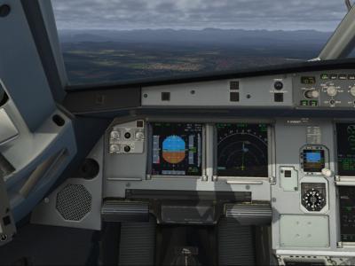 arrivee sur CLERMONT FERRAND sous une couche nuageuse JJB