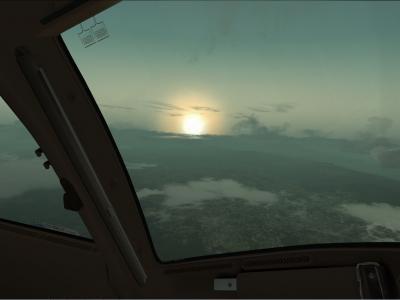 lever de soleil Rio approche