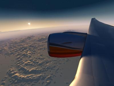 sunrise over the desert, Leg2 GP World Tour ivao